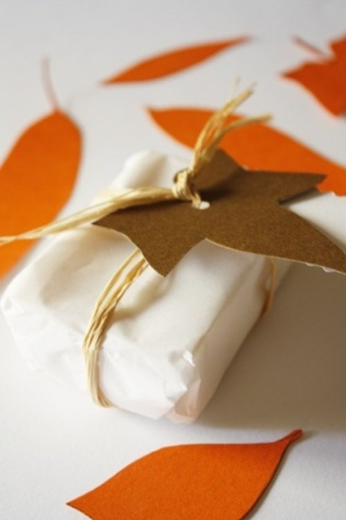 gift wrap for fall