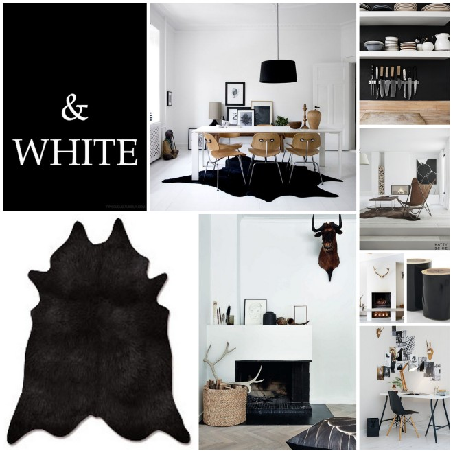 black and white interiors - by Myra Madeleine