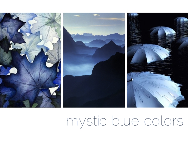 mystic blue colors - by Myra Madeleine