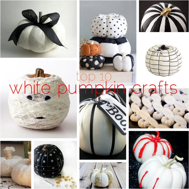Top 10 white pumpkin crafts - by Myra Madeleine