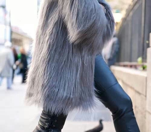 winter must have : fuzzy vest by Myra Madeleine