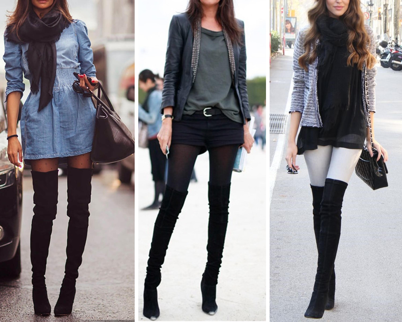 Сапоги высокие женские с чем носить