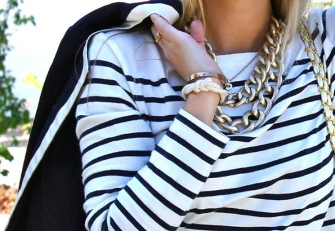 ways to wear a bold chain necklace - by Myra Madeleine