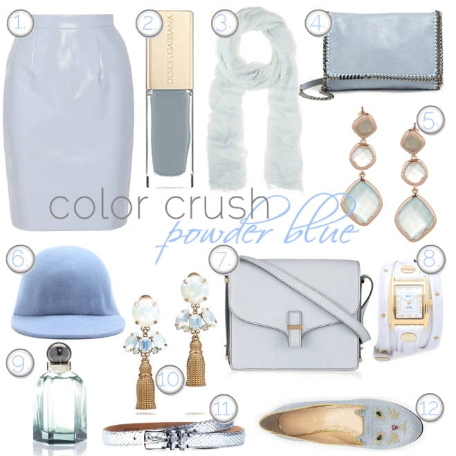 powder blue accessories - by Myra Madeleine