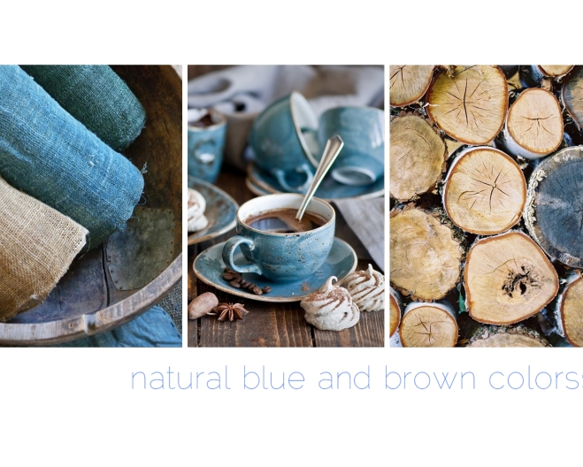 natural blue and brown colors   Myra Madeleine