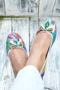 python leather ballerina's | Myra Madeleine