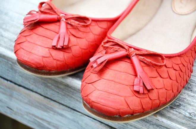 Python leather ballerina's |Myra Madeleine