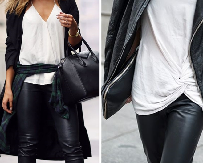 ways to wear black leather pants | Myra Madeleine