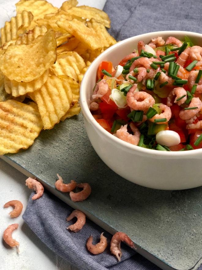 chips dipsaus recept borrelplank