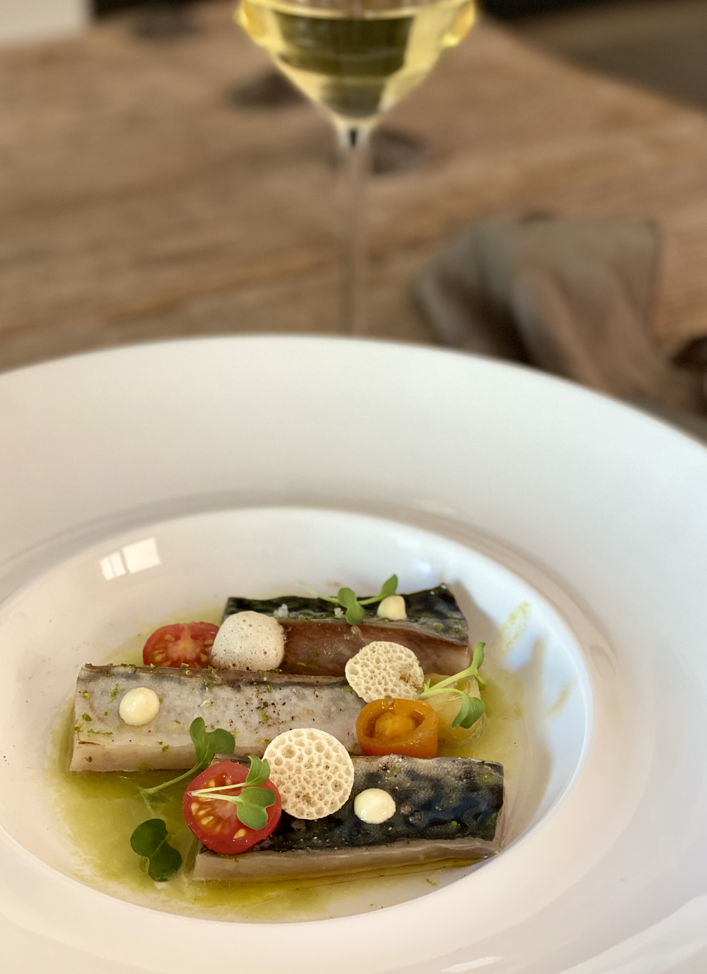 gebrande makreel met groene gazpacho Jeroen de Zeeuw