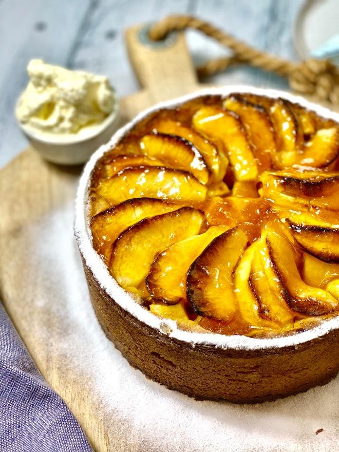 appel abrikozen taart